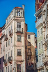 Coimbra 2 [In Explore] (ValterB) Tags: 2019 portugal colors coimbra sky shadow street building blue buildings bright architecture abstract window wall balcony stone valterb explore europe nikon nikkor nikond90