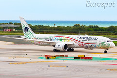 XA-ADL Boeing 787 Aeromexico (@Eurospot) Tags: lebl barcelona xaadl boeing 787 7879 aeromexico