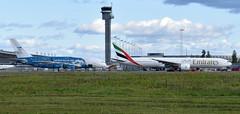 HiFly 9H-MIP + Emirates A6-ENN, OSL ENGM Gardermoen (Inger Bjørndal Foss) Tags: 9hmip hifly a6enn emirates airbus a380 boeing 777 osl engm gardermoen