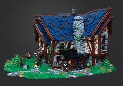Blacksmith's Workshop (robbadopdop) Tags: castle blacksmith workshop lego fantasy diorama medieval moc