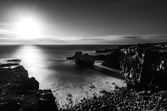 Monochrome sunset (Rico the noob) Tags: 2018 rock d850 landscape nature water outdoor published stones clouds coast longexposure blackandwhite beach ocean monochrome bw dof sky tenerife rocks teneriffa 20mmf18 20mm sea