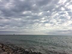 Many (but not 50) Shades of Gray (jadedirishgryphon) Tags: lakemichigan clouds gray