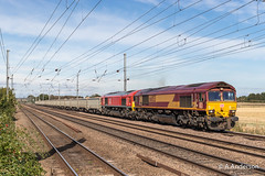 66053 20190915 Biggleswade (steam60163) Tags: biggleswade langford class66 66053 66104 db ews