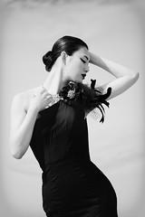 in Black at Dune (HarQ Photography) Tags: fujifilm fujifilmxseries xt1 xf50140mmf28rlmoiswr portrait conceptual red dune art beauty monochrome blackandwhite happyplanet asiafavorites bestportraitsaoi