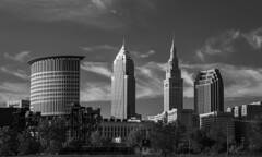Cleveland Skyscrapers (DaleKincaid.com) Tags: clevelandskyscrapers clevelandohio cleveland ohio landscape blackandwhite cityscape flats cuyahogariver terminaltower city heritagepark cuyahoga architecture skyline skyscraper waterfront river downtown urban tower structure downtowndistrict urbanscene travel destinations citylife water bridge riverbank officebuilding skyscrapers towers buildings riverfront cle