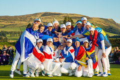 The European Team with The Solheim Cup (Ladies European Tour) Tags: auchterader perthshire scotland