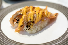 Salmon sushi (leadin2) Tags: eos m6 canon 2017 canonefs35mmf28macroisstm dining table 35mm macro f28 efs restaurant food sauce sushi japanese australia melbourne salmon