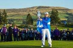 European Team Captain, Catriona Matthew of Scotland with  The Solheim Cup (Ladies European Tour) Tags: matthewcatrionasco auchterader perthshire scotland