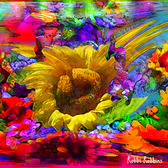 Whirlwind (brillianthues) Tags: flowers floral nature sunflowers abstract colorful collage photography photmanuplation photoshop