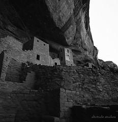 Mesa Verde, Colorado (altotude studios) Tags: bw national park cave dwelling medium format bronica sqa film ilford xp2 zenzanon