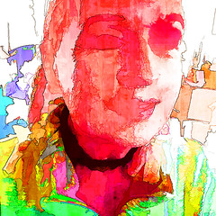 Hanne (j.p.yef) Tags: peterfey jpyef yefpeople woman portrait photomanipulation iphone abstract abstrakt square digitalart