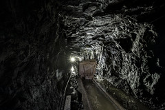 15 carts on rails.... (lortopalt) Tags: ore carts malm vagnar malmvagnar stefan lortopalt srt single rope technique mine mining gruva climbing klättrar abandoned övergivna