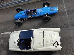 Austin Healey 100S and Brabham BT10 (jane_sanders) Tags: goodwood westsussex sussex goodwoodrevival revival motorcircuit testing test austinhealey100s austin healey 100s brabhambt10 brabham bt10