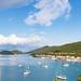 Jachten im Hafen Polace auf Mljet, Kroatien