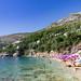 Mountain above Sveti Jakov Beach in Dubrovnik, Croatia