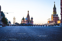 Red Square in Moscow at sunrise. (ivan_volchek) Tags: square red moscow kremlin russian cathedral church dome tower russia building architecture brick famous old orthodox sky symbol town cross culture history museum place wall architectural city landmark religion vasily cities cobble cobblestone cobbly colors cover paving pebble rubble star stone street traditional union palace temple basil blue christianity