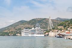 Cruise ships at Dubrovnik Cruise Port, Croatia