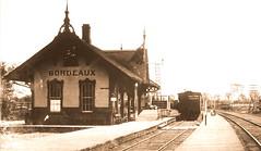 Montréal / Ahuntsic, vers 1910. (DubyDub2009) Tags: architecture archive gare station ahuntsic cartierville montréal québec cpr bordeaux