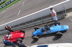 Lancia Ferrari D50A and Brabham BT10 (jane_sanders) Tags: goodwood westsussex sussex goodwoodrevival revival motorcircuit testing test brabhambt10 brabham bt10