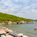 Cliffs near Sunj Beach on Lopud Island, Croatia