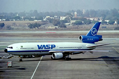 PP-SOM   McDonnell Douglas DC-10-30 [46940] (VASP) Los Angeles Int'l~N 03/11/1991 (raybarber2) Tags: 46940 airliner alpechacollection brasilcivil brokenup cn46940 cancelled filed flickr klax negative planebase ppsom