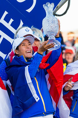 Celine Boutier of France with the trophy (Ladies European Tour) Tags: boutiercelinefra auchterader perthshire scotland