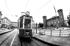 nr. 7 (Peppis) Tags: torino turin piemonte italy bn biancoenero tram nationalgeographic opteka fisheye bestimageofitaly anticando centrostorico giuseppecostanzo peppis