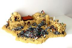 Tatooine Junkyard Depot Skirmish- Star Wars Battlefront 2 (First Order Lego) Tags: lego starwarsmoc starwars legobattlefront2 battlefront2 legomoc