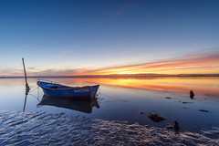 LAN0318 (pixFINEART) Tags: boat ria aveiro portugal lagoon water sunrise