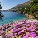The Adriatic Sea at Sveti Jakov Beach in Dubrovnik, Croatia