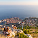 Old town of Dubrovnik, Croatia, a view from Mount Srd