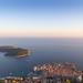 Blick auf die Insel Lokrum in der Nähe von der Altstadt von Dubrovnik, Kroatien