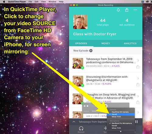 iOS Screen Quicktime Mirroring by Wesley Fryer, on Flickr