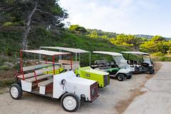 Golfwagen auf Lopud, Kroatien