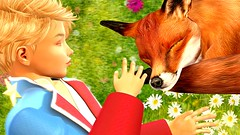 Friendship (mikebastlir) Tags: secondlife virtual world friendship fox boy child childhood little prince tamed sharing love animal story exupery