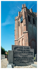 Cornelia Pisa rests at the leaning church tower of Acquoy (Paulemans) Tags: 2019anotheryearwithmeyer meyeroptikgörlitz1qorestegon2829 m42 paulemans paulderoode acquoy pisa leaning tower cemetery