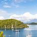 Yachts in Polace Marina on Mljet island, Croatia