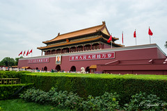 Tiananmen (E. Aguedo) Tags: china beijing palace museum forbidden city flags history old architecture tiananment square travel famous place gate mao chinese culture
