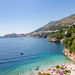 Das Adriatische Meer am Strand Sveti Jakov in Dubrovnik, Kroatien