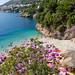 Blick auf Strand Sveti Jakov in Dubrovnik, Kroatien