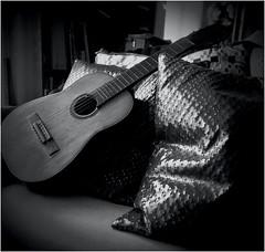 Silent Guitar (J.Armando Serrano Photography) Tags: hasselblad analog asa400 distagon wideangle carlzeiss guitar silent mediumformat blackwhite 500cm flickr film arista texture contrast 120mm lens spanishguitar bw