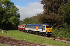 Class 47 No: 47306 'The Sapper' arrives at Bodmin Parkway working the 11:45 Bodmin General to Bodmin Parkway service. 15/09/19 (mattcareyphotography) Tags: class 47 47306 the sapper railfreight distribution bodmin wenford railway diesel gala parkway general