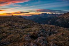 Tundra Sunrise (RkyMtnGrl) Tags: landscape nature vista mountains tundra clouds rocks peaks morning sunrise september trailridgeroad forestcanyonoverlook rmnp rockymountainnationalpark colorado 2019