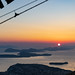 Sunset over the Adriatic Sea, a view from Mount Srd in Dubrovnik, Croatia
