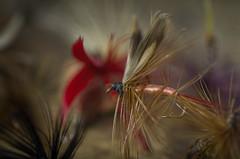 Totem Flies (Burnt Umber) Tags: rod reel fishing lure antique pentax k5 ©allrightsreserved rpilla001 tamron af 1750mm f28 xr dill ld workbench nostalgia totem flies tackle