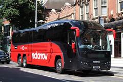 Volvo B11RT Plaxton Elite (DennisDartSLF) Tags: nottingham coach volvo b11rt plaxton elite triaxle 81 trentbarton redarrow yx65zhl