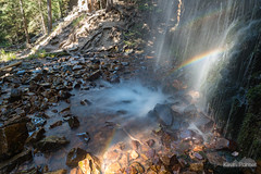 Rainbow Cascade (kevin-palmer) Tags: september fall autumn nikond750 montana littlebeltmountains helenalewisandclarknationalforest memorialfalls waterfall neihart water stream creek flowing lower rainbow longexposure tamron2470mmf28 polarizer