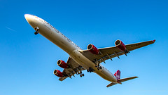 4 Engines 4 Long Haul.. (Al Henderson) Tags: 600 a340 a340600 airbus airport aviation egll gvnap heathrow lhr london planes sleepingbeauty vir vs virginatlantic aircraft airliner
