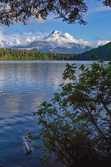 Lakeside Lost Lake (Dave In Oregon) Tags: lostlake mounthood mounthoodnationalforest oregon water clouds summer