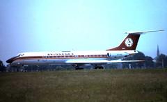 B0805E 20Jun82 YU-AHX Tu-134A GLA (fergusabraham) Tags: glasgowinternational gla egpf yuahx tu134 aviogenex tupolev